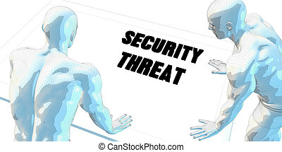 Security Threat Discussion and Business Meeting Concept Art