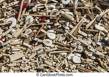 mixture of different piano spare parts - mixture of...