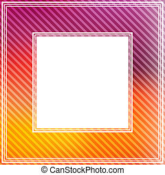 purple orange border - Abstract bright border with purple...