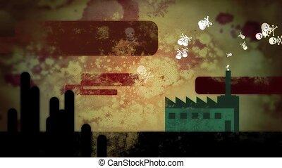 Dirty Poison Factory HD Loop - High definition animation of...