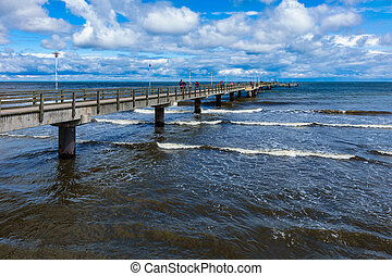 The pier in Ahlbeck on the island Usedom Germany