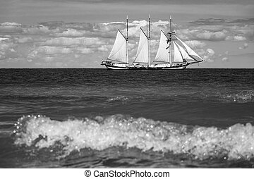 Windjammer in Warnemuende (Germany).