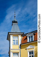Buildings in Bansin on the island Usedom Germany