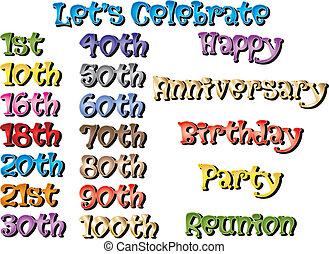 especiais, aniversários