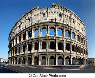 Colosseum - The Collosseum, the world famous landmark in...
