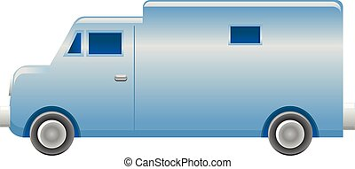 Armoured truck vector icon - Vector illustration of an...