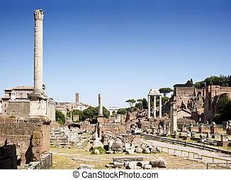 Forum Romanum - Overview of the Forum Romanum, with the...