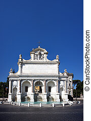Papal Fountain - XXXL stitched image of the Fontana dell\'...