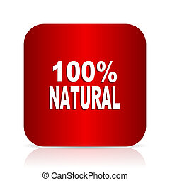 natural red square modern design icon