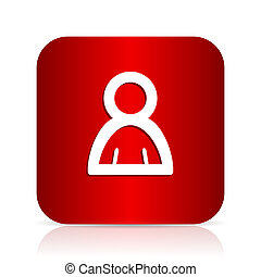 person red square modern design icon