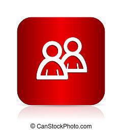 forum red square modern design icon