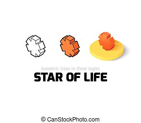 Star of life icon in different style - Star of life icon,...