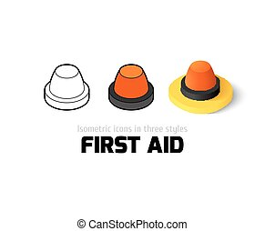 First aid icon in different style - First aid icon, vector...
