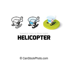 Helicopter icon in different style - Helicopter icon, vector...