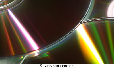 Moving reflections on CDs - Moving reflected light beams...