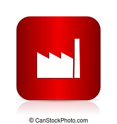 factory red square modern design icon