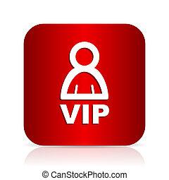 vip red square modern design icon