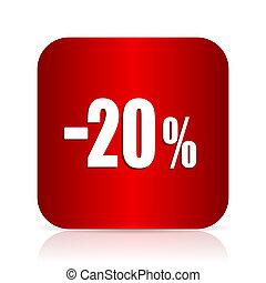 20 percent sale retail red square modern design icon