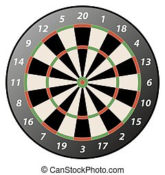 isolated dartboard - illustration of high detailed isolated...