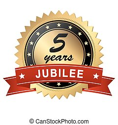 jubilee medallion - 5 years - golden jubilee medallion with...