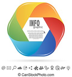 info graphic colored - business info graphic colored with...