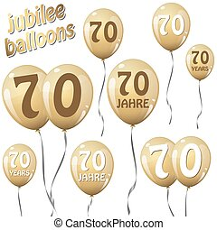 jubilee balloons - golden jubilee balloons for 70 years in...