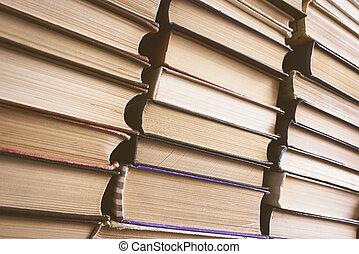 Libros, viejo, Pila