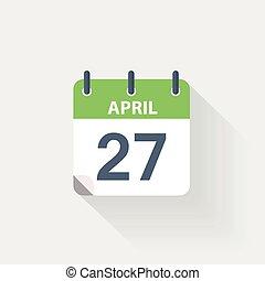 27 april calendar icon