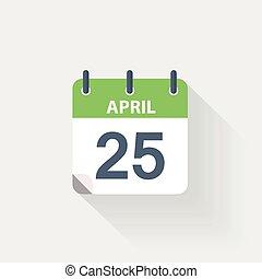 25 april calendar icon