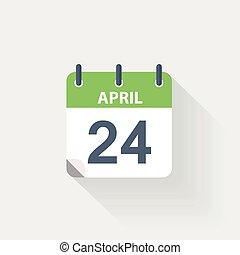 24 april calendar icon