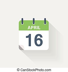 16 april calendar icon