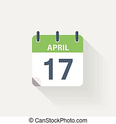 17 april calendar icon