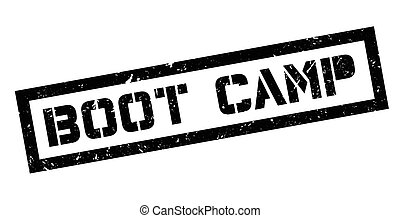 Boot Camp rubber stamp on white. Print, impress, overprint.