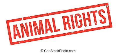Animal Rights rubber stamp on white Print, impress,...