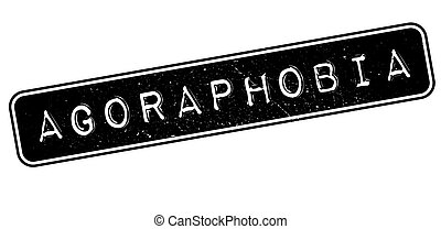 Agoraphobia rubber stamp on white. Print, impress,...