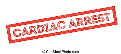 Cardiac Arrest rubber stamp on white Print, impress,...