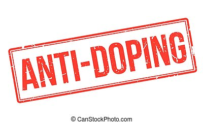 Anti-Doping rubber stamp on white Print, impress, overprint...