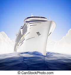 Crusing the world - a luxury cruiseship sailing the waters...