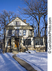 American House - Victorian House in Chicago suburbs.