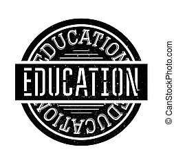 Education rubber stamp grunge