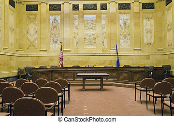 Court Room in State Capitol Building - Madison, Wisconsin