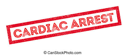 Cardiac Arrest rubber stamp on white. Print, impress,...