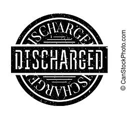 Discharged rubber stamp Grunge design with dust scratches...