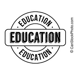 Education rubber stamp grunge - Education rubber stamp,...