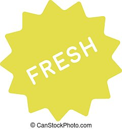 Fresh badge simple Clean icon of freshness, healthiness,...