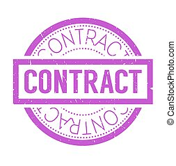 Contract rubber stamp. Grunge design with dust scratches....