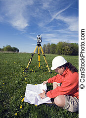Analizing a map - spring land surveying
