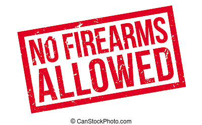 No Firearms Allowed rubber stamp on white. Print, impress,...