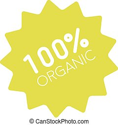 100% organic badge simple - One hundred percent organic...