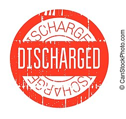 Discharged rubber stamp. Grunge design with dust scratches....